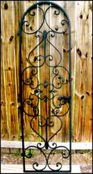 "Forged Scroll Iron Wine Cellar Door 24"" by 80"""