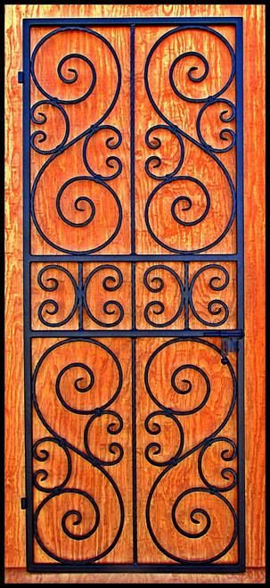 Image 1  sc 1 st  Leos Iron Wine Cellar Doors & Square top Scalloped Scroll Iron Wine Cellar Door or Gate 36
