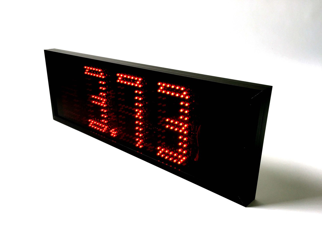 "7"" Battery Powered LED Sign.  Wirelessly display weight from scale"