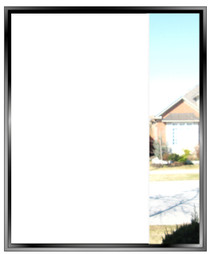 Opaque - White-Out - Static Cling Privacy Window Film