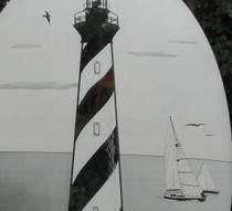 Cape Hatteras Lighthouse Decorative Window Decal