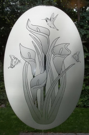 Calla Lily Etched Pattern Decorative Window Decal
