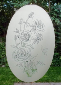 Rose Etched Pattern Decorative Window Decal