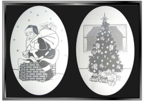 xSEASONAL: Holiday Combo Pack of Two Static Cling Window Decal
