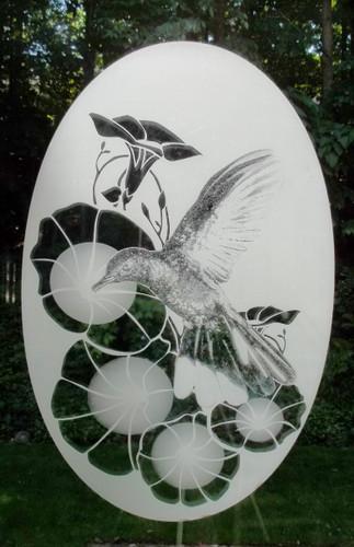 Hummingbird Pattern Decorative Window Decal