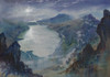 Climb Mountains by Moonlight.  A Watercolour by Ben Haslam BA Hons