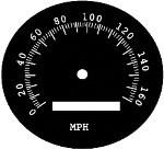 Speedometer Face Plate - R2 160 M.P.H.