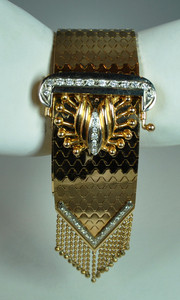 Fabulous French Retro Bracelet in 18kt Yellow Gold