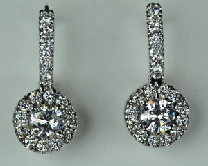 Gorgeous Diamond Halo Earrings