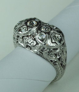 Fabulous Filigree Edwardian Ring