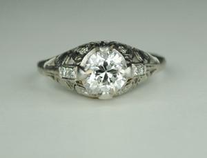 1.0 Carat Edwardian Platinum Engagement Ring