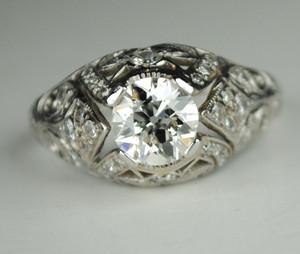 1.0 Carat Handmade Edwardian Platinum Engagement Ring