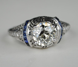 On Sale 1.50 Carat Diamond Art Deco Engagement ring