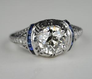 On Sale 1.50 Carat Diamond Art Deco Engagement ring