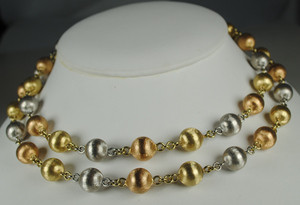 Classic 14kt Tri Color Gold Beads