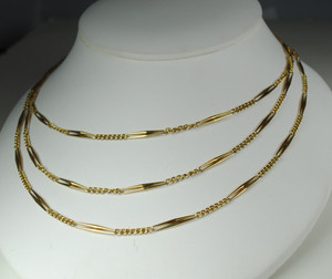 14kt yellow gold 54 inch Victorian Chain