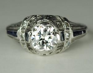 SOLD .80 Carat Art Deco Filigree Engagement Ring