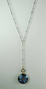 Tiffany & Co. Gold, Platinum and Enamel Pendant Watch