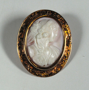 Victorian Pink Shell Cameo