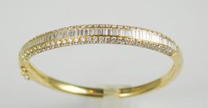18Kt Cartier 6 Carat Diamond Bangle