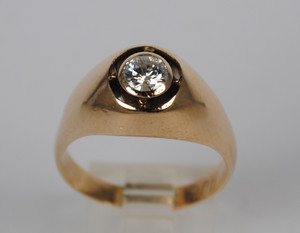 Men's Victorian 14kt Diamond Ring 0.50ct