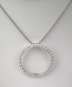 Classic Diamond Circle Pendant 2.45 carats