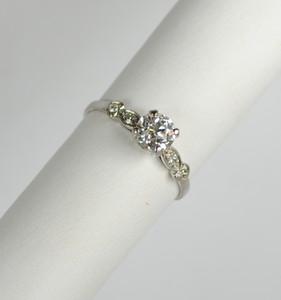 Art Deco Platinum Diamond Engagement Ring 0.66ct