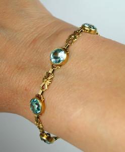 Victorian Blue Zircon Bracelet