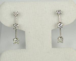 Hanging Diamond Earrings .80 ctw.