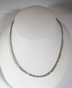 18kt White Gold Diamond Riviera Necklace 10.97 ctw.