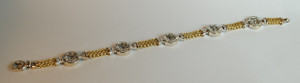 14kt Two-Tone Gold Bracelet with Diamond links 1.30ctw. 8 inches