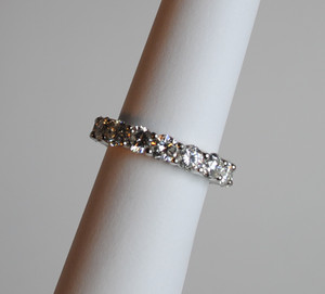 Classic Shared Prong 4.14ctw. Diamond Eternity Band in Platinum