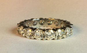 Classic Shared Prong 3.54ctw. Diamond Eternity Band in Platinum