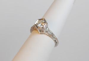 Simply Elegant Art Deco Style Engagement Ring