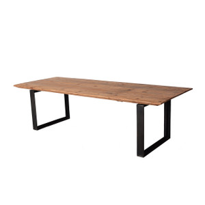 2.6M DINING TABLE W/ IRON LEGS (F084)