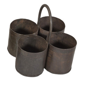 4 POT IRON PLANTER (JK186)