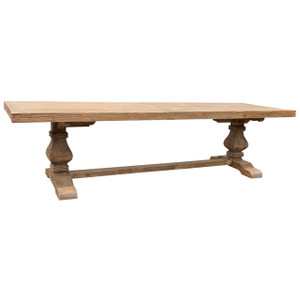 3M PEDESTAL ELM DINING TABLE (F096)