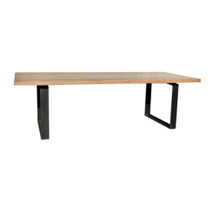 INDUSTRIAL WALNUT DINING TABLE (F097)