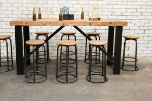 INDUSTRIAL BAR TABLE SET (F031_SET8)