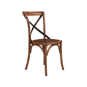 CROSS BACK CHAIR OAK, DARK STR (CBC01)