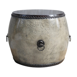 OCCASIONAL TABLE DRUM (BZ148)