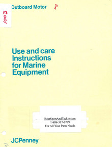 Eska JC Penney Owner's Manual - Model 1003