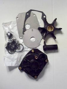 Water Pump Impeller Repair Kit with Housing - 60 to 75 hp - 1979 to 1994 - Johnson Evinrude - OMC 436957 - Sierra 18-3389