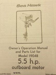 Owner's Manual - Model 1904B - Eska Sea Hawk - Includes Parts List