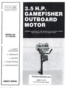 Eska Sears Gamefisher Owner's Manual - Model 217-585240