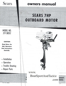 Eska Sears Ted Williams Owner's Manual - Model 217-58532 - Includes Parts List and Diagrams