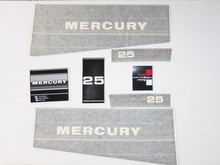 Engine Decal Set - Fits 25, 25 SeaPro, Super 15 (2 Cyl) - Mercury 37-13239A88