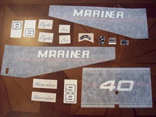 Engine Decal Set - Mercury Mariner - RED - 40 - Mercury 37-810458A91