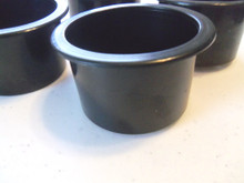 """Flush Mount Cup Drink Holder - SeaDog 588000 - 2"""" Tall Black - Sold as a Set of 4 - View 1"""