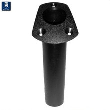 Rod Holder - Flush Mount - Angled Top - TH Marine RH-1-DP - Choice of Black or Fish White - View 1